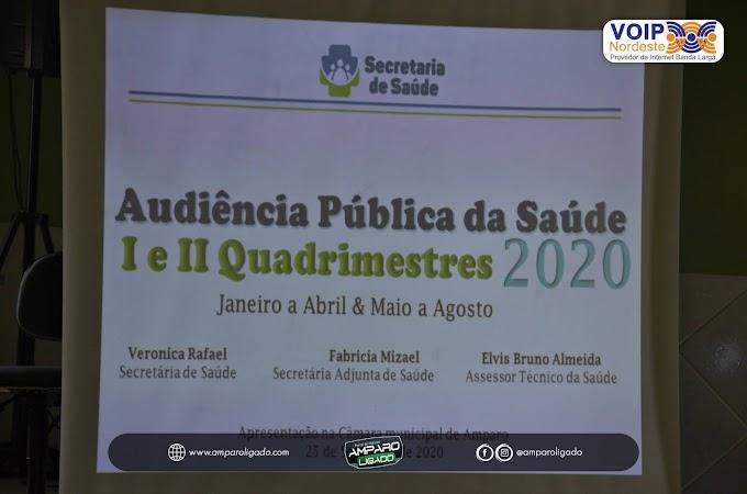 Secretaria de Saúde de Amparo realizou sua Audiência Pública de Saúde referente aos I e II Quadrimestres de 2020