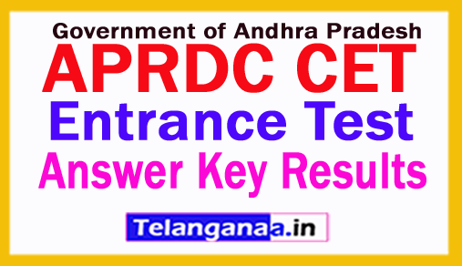 APRDC CET Answer Key, APRDC CET Results 2018 2018 CET