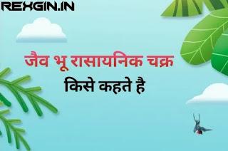 जैव भू रासायनिक चक्र - biogeochemical cycle in hindi