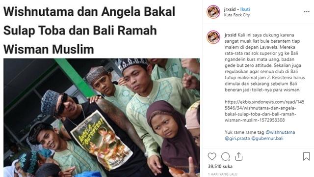 Muak Lihat Kelakuan Bule, Jerinx SID Dukung Bali Ramah Wisatawan Muslim