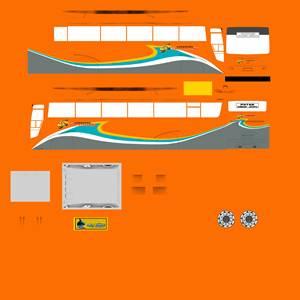 Livery Termuda Orange Euroliner