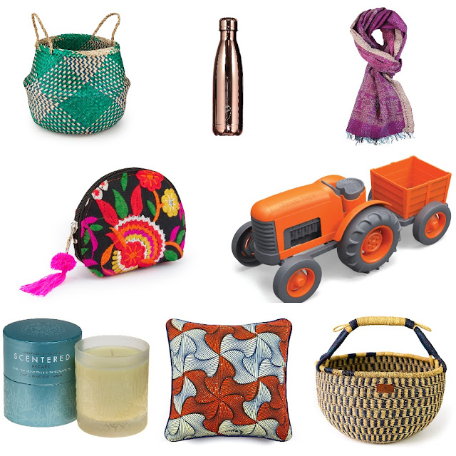 Ethical and vegan gift ideas featuring toys,bags, clothing and cosmetics