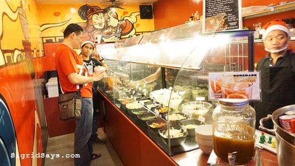 Bowlero Mongolian Bowl - Bacolod restaurants - choosing the ingredients