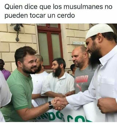 Quién dice que los musulmanes no pueden tocar un cerdo ?
