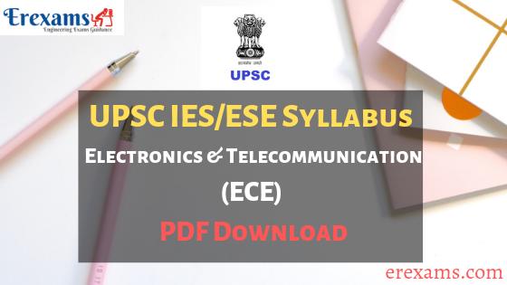 UPSC IES Syllabus Electronics (ECE) PDF