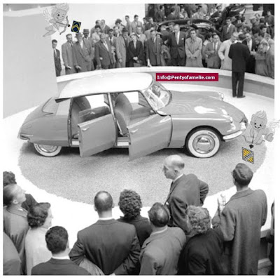 Citroen DS car launched in 1955 is a pure Beauty with Aerodynamic design combining pure lines