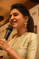 Samantha Ruth Prabhu in Cream Suit at Launch of NAC Jewelles Antique Exhibition 2.8.17 ~  Exclusive Celebrities Galleries 026.jpg