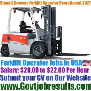 Stemilt Growers Forklift Operator Recruitment 2021-22