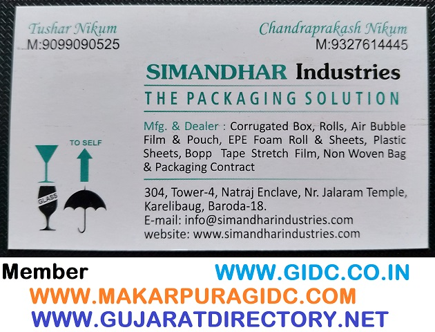 SIMANDHAR INDUSTRIES - 9099090525