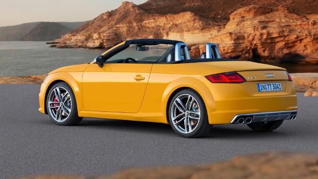 Audi TTs Jaune - Fond d'écran en Ultra HD 4K