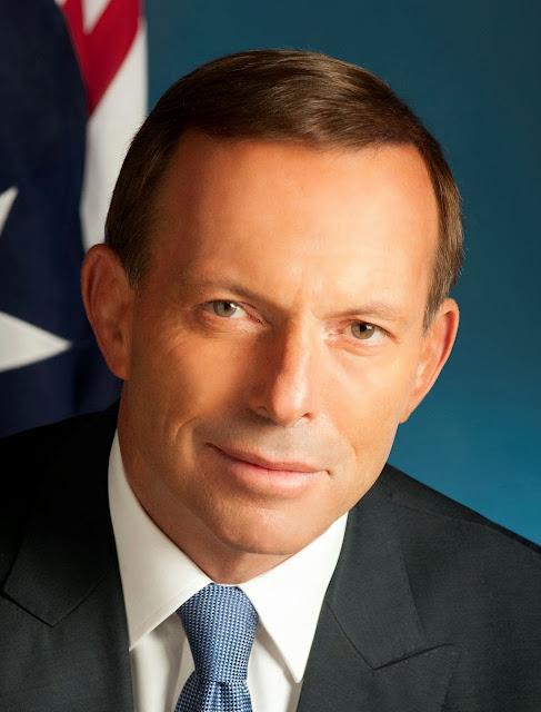 Tony Abbott, primeiro ministro da Austrália,  mandou fechar a fonte do disparate