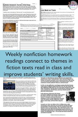 Finding a homework routine that is meaningful for students and manageable for teachers can be a challenge. Try out themed nonfiction readings and responses and use homework calendars to help your students and yourself get organized and stay on top of assignments.