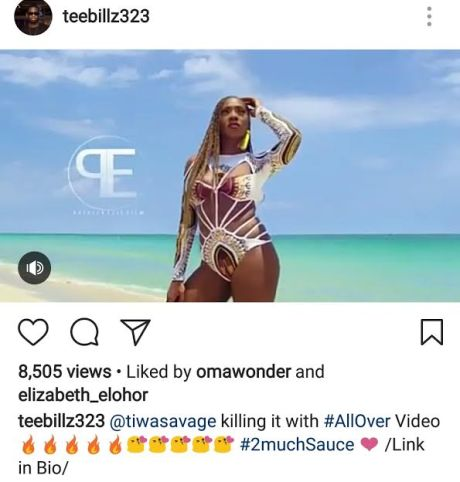 Teebillz defends Tiwa Savage as lady insinuates that she copied Beyonce in new music video