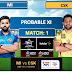 IPL 2020: MI vs CSK Dream11 Predictions and stats | Mumbai Indians vs Chennai Super Kings Probable best XI