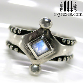 medieval ring with moonstone