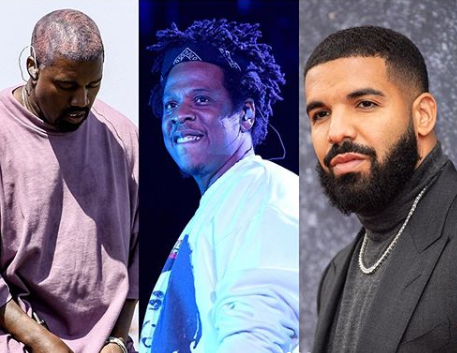 1st Time: Kanye West leads Jay-Z and Drake to become Forbes 2019 highest paid hip-hop  Star
