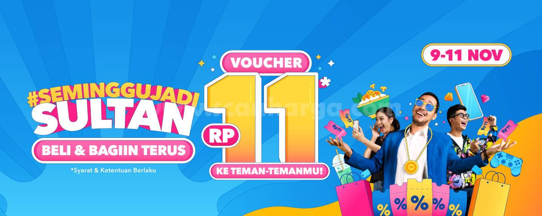 Promo DANA 11.11 Cuma Modal Rp 11,- Seminggu Jadi Sultan