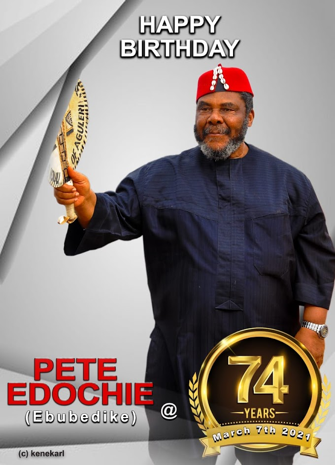 Yul Edochie Celebrates his Dad's 74th Birthday