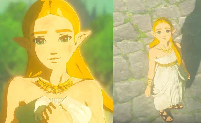 Breath of the wild princess zelda in white dress