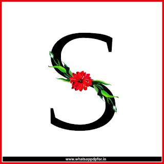 s letter images with flowers