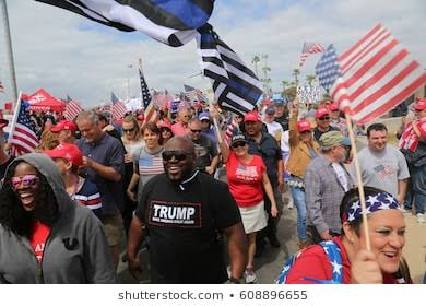 Million Maga March Live Streaming Crowed