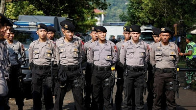 Indonesian police officers