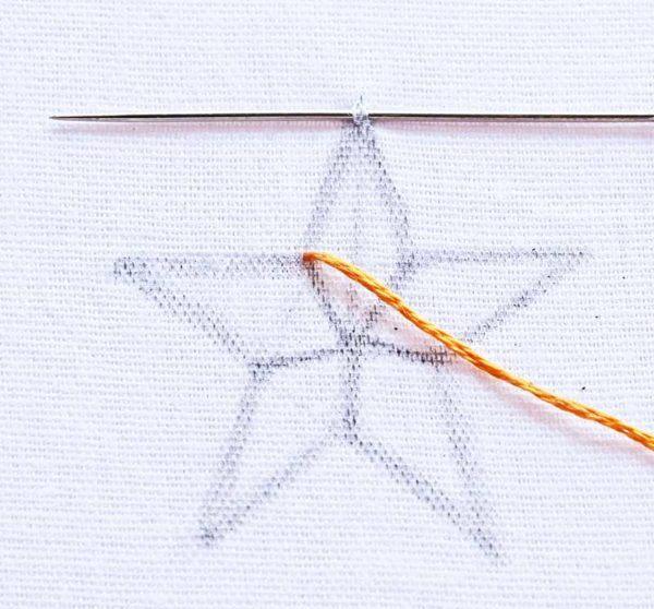 Hướng dẫn thêu ngôi sao - Hình 2