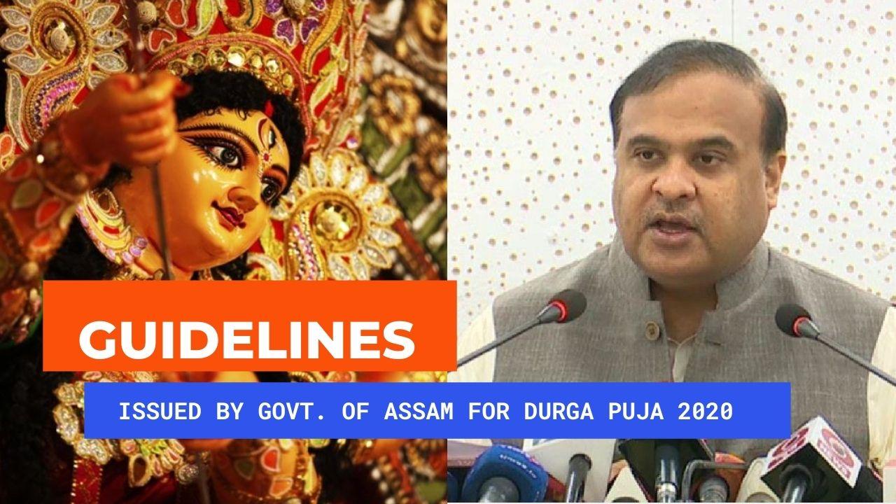 SOP /Guidelines for Durgapuja in Assam 2020