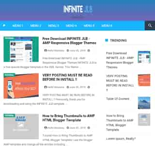 Infinite JLB AMP Blogger Template