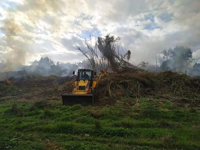 Καθαρισμός της όχθης του ρέματος Ραμαντάνι από την Π.Ε. Αργολίδας