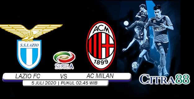 PREDIKSI LAZIO VS AC MILAN 5 JULI 2020