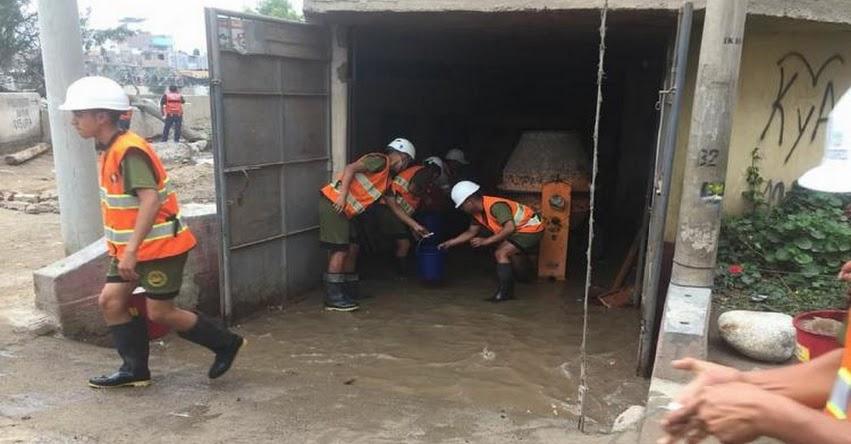 Fuerzas Armadas y bomberos en alerta ante incremento del caudal del río Rímac en Chosica