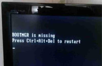 Cara Mengatasi BOOTMGR is Missing Windows 7