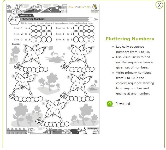 Free Maths Worksheets for Kindergarten to Grades 1, 2, 3