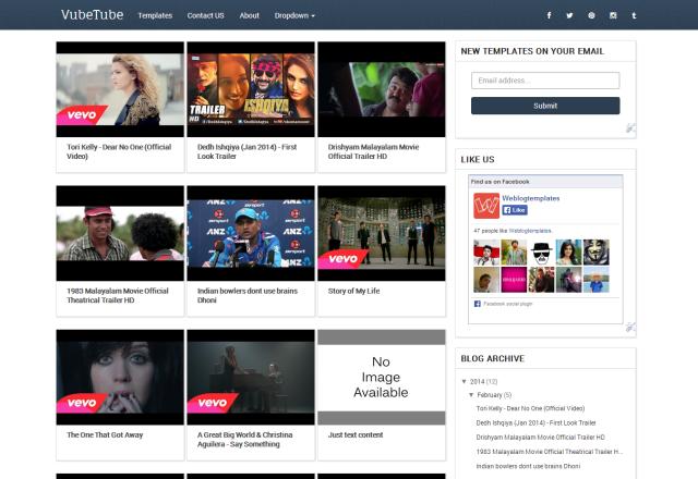 VubeTube Blogger Template | Blogger Templates Gallery