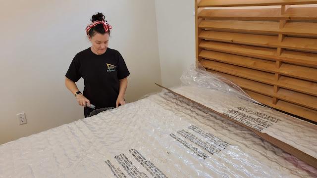 unboxing my naturpedic queen mattress