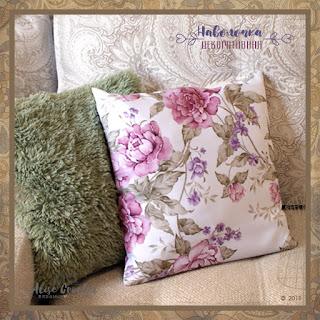 шьем декоративную наволочку на подушку с запахом