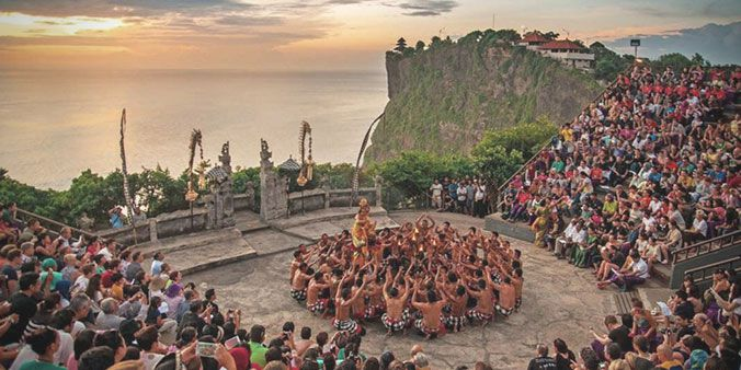Kecak and Fire Dance Performance, Full Day Denpasar City and Uluwatu Temple Bali Sunset Tour