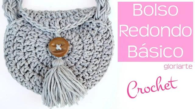 Tutorial Bolso Redondo con Borla a Crochet Paso a Paso