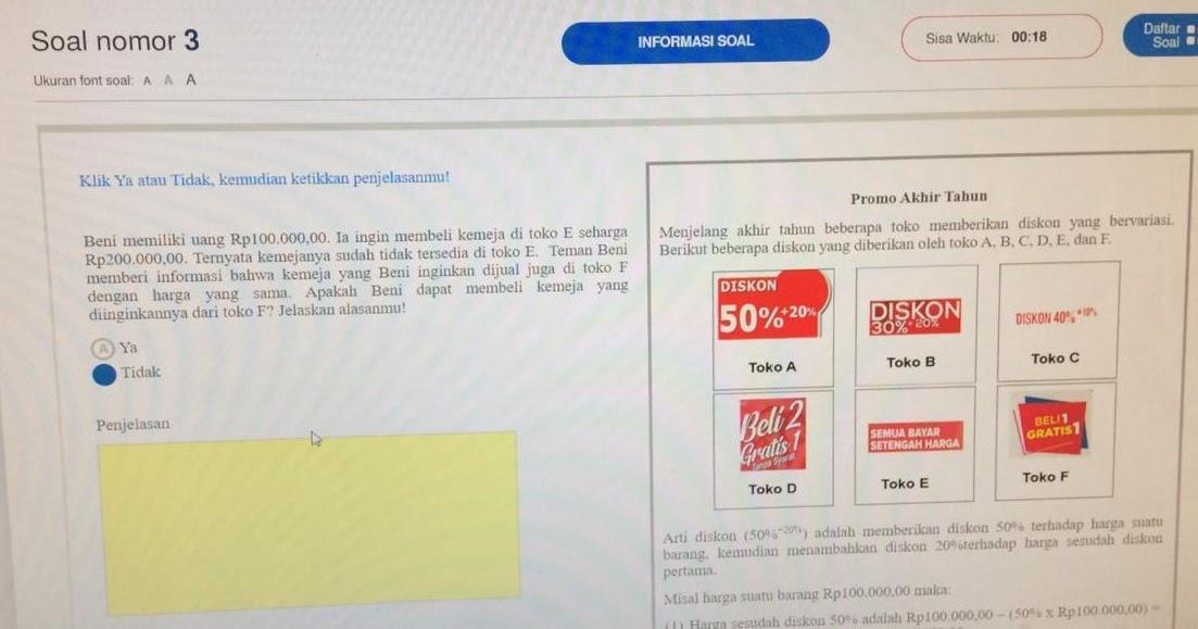 Contoh Soal Akm Matematika Smp Terbaru 2019