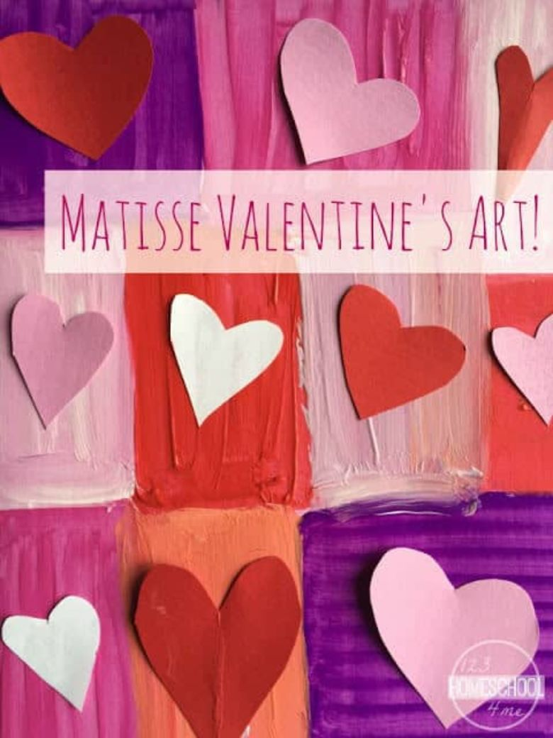 matisse heart art for kids