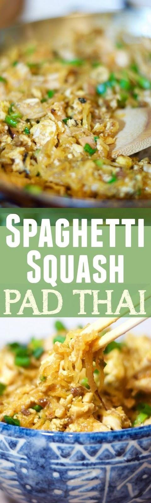 Guilt-free Spaghetti Squash Pad Thai (Paleo, Gluten Free)
