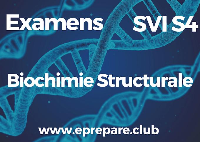 Examens Corriges de Biochimie Structurale SVI 3 PDF