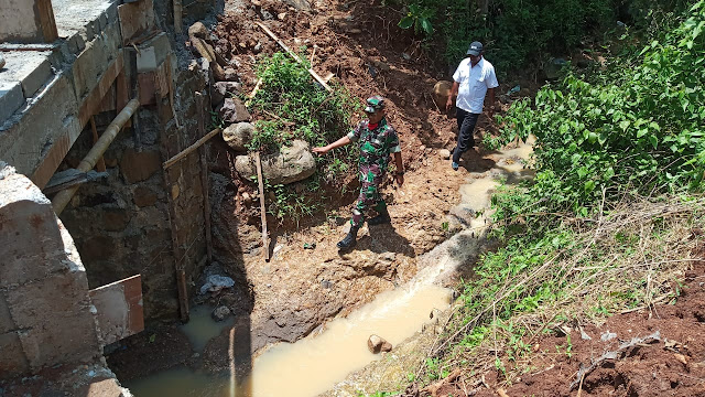 KodimKaranganyar - Kasiter Korem 074 Warastratama Tinjau Lokasi TMMD di Tawangsari