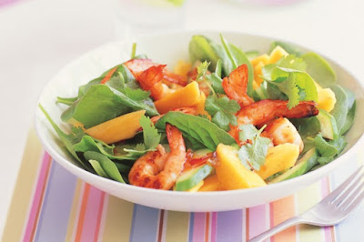 Chilli lime, prawn and mango salad desserts recipes