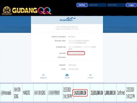 Selamat Kepada Member Setia GudangQQ WD sebesar Rp. 14,010,800.-