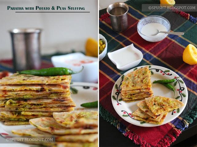 Spusht   Paratha with Potato & Peas Stuffing