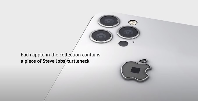 Launch iPhone 12 with a piece of fabric from one of steve jobs sweaters