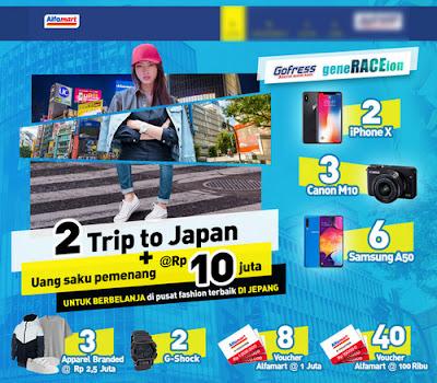 Gofress geneRACEion Alfamart Berhadiah Trip ke Jepang + Uang