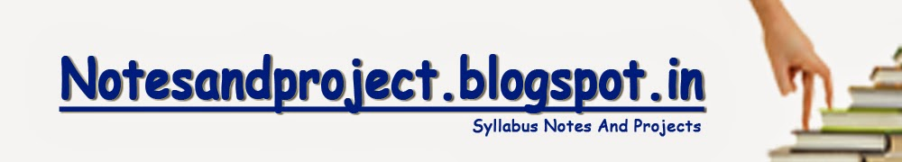 SYLLABUS NOTES AND PROJECTS: MCA-501 Data Warehousing and
